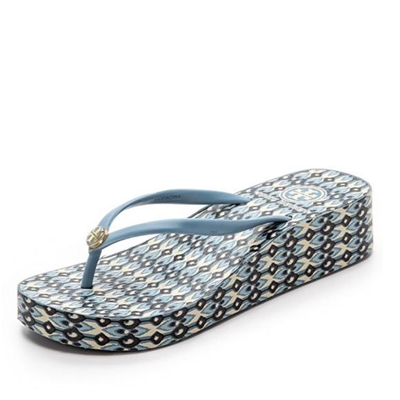 d1198af1da9cf3 Tory Burch Flip Flops Thong Sandals Thandie Wedge.  M 5b2ac1f5035cf18e94f10a9b